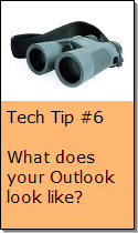 Adjusting Your Outlook Screen